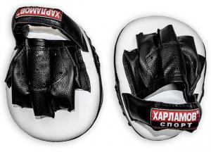 Лапы боксерские гнутые кожаные - купе для кисти