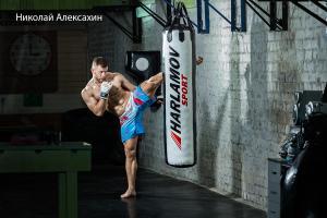 Работа на бокс мешке — Николай Алексахин