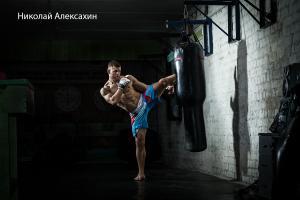 Работа на боксёрском-мешке Силуэт — Николай Алексахин