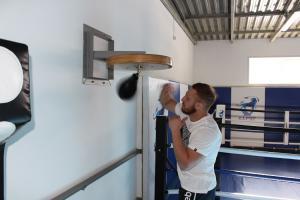Работа на платформе для пневмогруши усиленной
